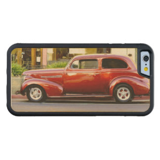 Classic Red Car Carved Maple iPhone 6 Bumper Case