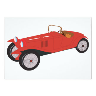 Classic Red Car Invitations