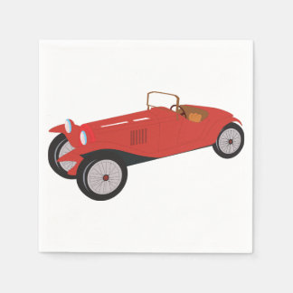 Classic Red Car Paper Napkins