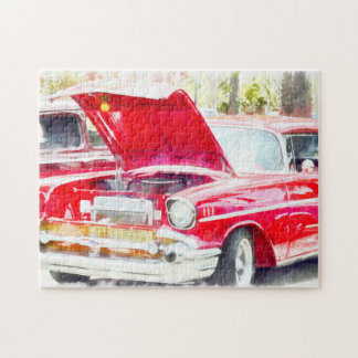Classic Red Chevy Jigsaw Puzzle