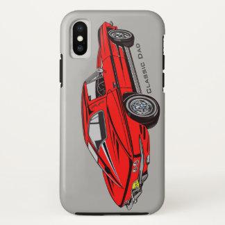 Classic Red Corvette Design iPhone X Case