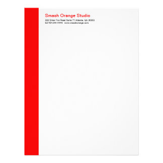 Classic Red Divider Letterhead