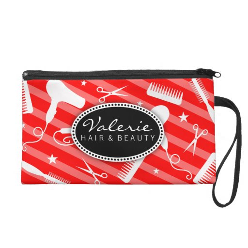 Classic Red Hair Salon Tools Wristlets