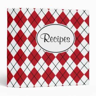 Classic Red Kitchen Recipe Binder Gift