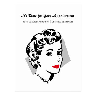 Classic Red Lips Woman Salon Appointment Reminder Postcard