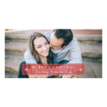Classic Red Merry Christmas Photo Greeting Card