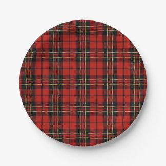 Classic Red Plaid Paper Plates