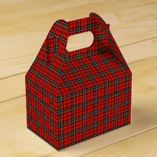 Classic Red Plaid Pattern Favor Box