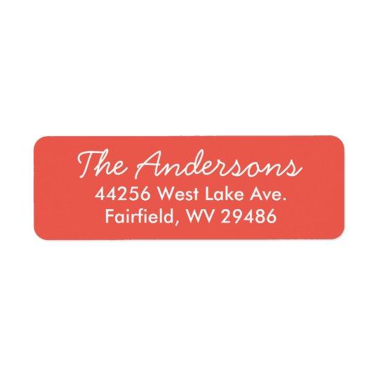Classic Red Return Address Label