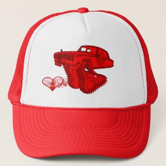 Classic Red Rolls Royce Valentine's Fantasy Trucker Hat