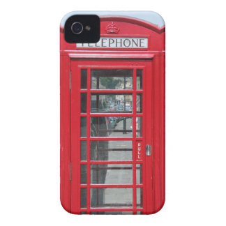 Classic red telephone box photo iPhone 4 cases