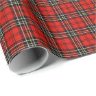 Classic Red Vintage Plaid Wrapping Paper