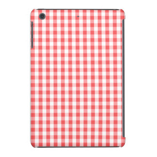 Classic Red & White Gingham Pattern iPad Mini Covers