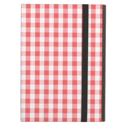 Classic Red & White Gingham Pattern iPad Air Cover