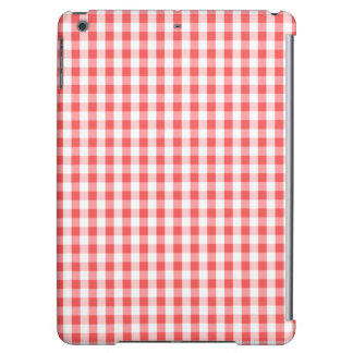 Classic Red & White Gingham Pattern Case For iPad Air