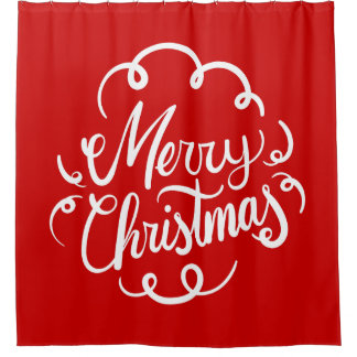 Classic Red White Merry Christmas Typography