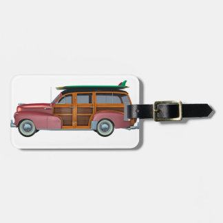 Classic Red Woody Luggage Tag