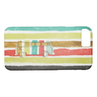 Classic Retro 60's & 70's Family Bus iPhone 8/7 Case