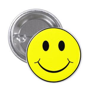 Classic Retro 70's Yellow Happy Smiley Face Button