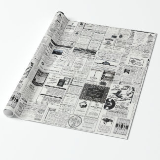 Classic Retro Advertising Wrapping Paper