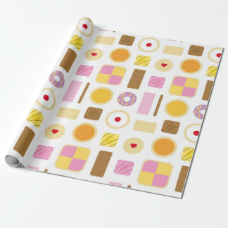 Classic Retro Biscuits & Cakes Wrapping Paper