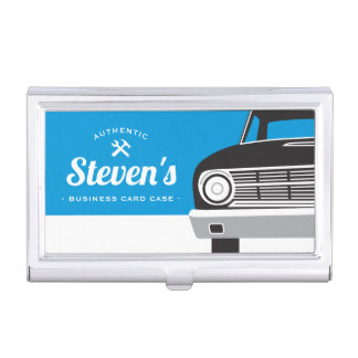 Classic Retro Car | Customized Name Own Brand Business Card Holder