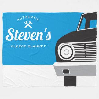 Classic Retro Car   Customized Name Own Brand Fleece Blanket