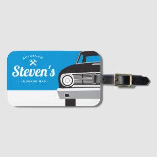 Classic Retro Car | Customized Name Own Brand Luggage Tag