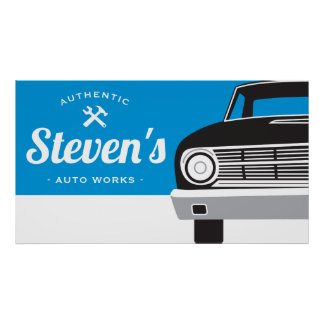 Classic Retro Car | Customized Name Own Brand Poster