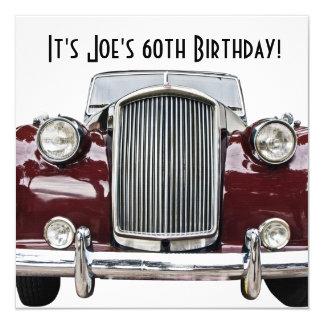 Classic Retro Vintage Car Birthday Party Invites