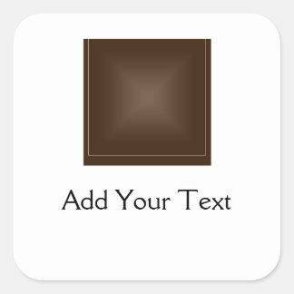 Classic Rich Chocolate Brown Square Sticker