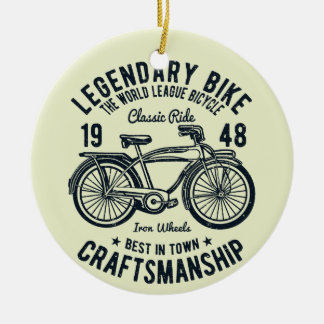 Classic Ride Bicycle Legendary Bike Craftsmanship Ceramic Ornament
