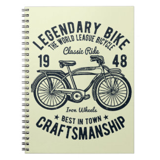 Classic Ride Bicycle Legendary Bike Craftsmanship Notebook