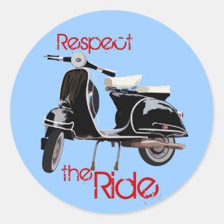 Classic ride classic round sticker