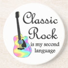 Classic Rock is my second language Coaster