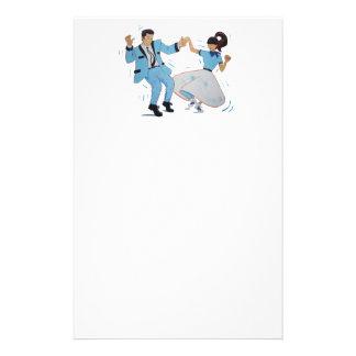 Classic Rock n Roll Jive dancers cartoon Stationery