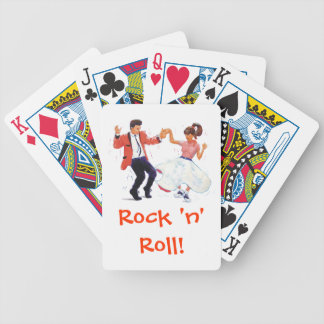 Classic Rock & Roll Teddy Boy Poodle Skirt Dancers Bicycle Playing Cards