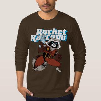 Classic Rocket Raccoon Character Art T-Shirt