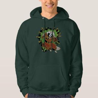 Classic Rocket Raccoon Running Graphic Hoodie