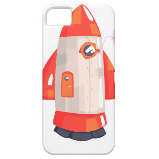 Classic Rocket Spaceship With Satellite Dish On iPhone 5 Cover