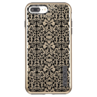 Classic ROcoco Gothic Black Damask Noir Incipio DualPro Shine iPhone 8 Plus/7 Plus Case