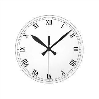 Classic Roman Numerals Round Clock