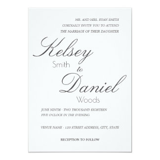 Classic & Romantic | Wedding Invitation