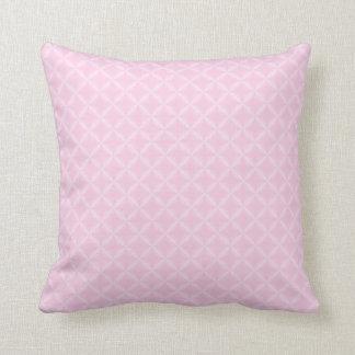 Classic Rose Rhombus Pattern Throw Pillow