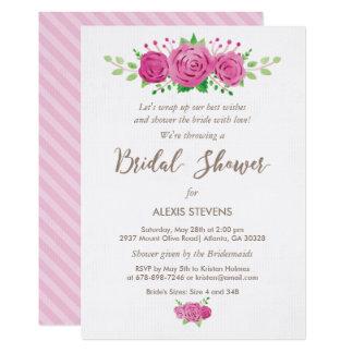 Classic Rosiness Bridal Shower Invitation