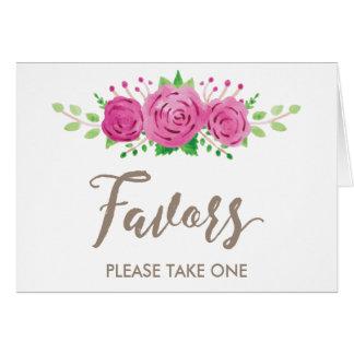 Classic Rosiness Favor Card