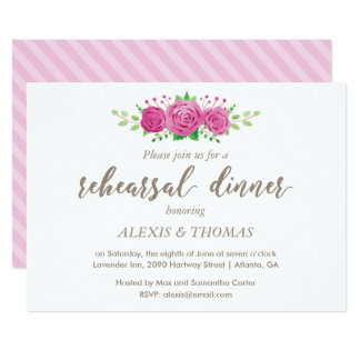 Classic Rosiness Rehearsal Dinner Invitation