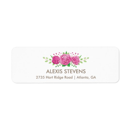 Classic Rosiness Return Address Label