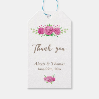 Classic Rosiness Thank You Gift Tag
