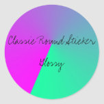 Classic Round Sticker, Glossy